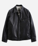 SINGLE RIDERS LEATHER JACKET SILVER