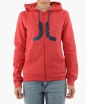(D4)Icon(ladies′ zip hooded.candy apple)