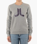 (D4)Icon(ladies′ crewneck.grey melange)