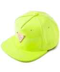 헤이터(HATER) 네온 옐로우 에나멜 스냅백 PATENT LEATHER FLUORESCENT YELLOW SNAPBACK