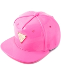 헤이터(HATER) 네온 핑크 에나멜 스냅백 PATENT LEATHER FLUORESCENT PINK SNAPBACK