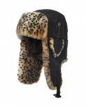 SUPPLEX BOMBER black w/Leopard Faux Fur
