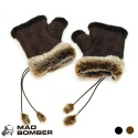 매드범버(MAD BOMBER) Wrist WARMER suede w/Faux Fur
