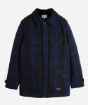 MULTI POCKET WOOL COAT NAVY