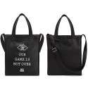 OUR GAME IS NOT OVER LEATHER TOTE BAG (BLACK)