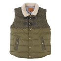 UTO 74 wool cobination duckdown vest_khaki(남여공용)