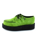 티유케이(T.U.K) A8121 Neon Green Suede Low Sole Creeper