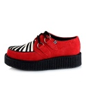 티유케이(T.U.K) A8237 Red ewith Zebra Low Creeper