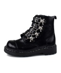 T2043 Black Skull Buckle Boot