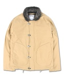 """HATE"" HOOK DECK JACKET BEIGE"