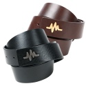 언리미트(UNLIMIT) Pulsation Belt - Black Brown
