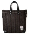 Pod Tote Bag Harris Tweed Brown