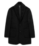Padded shawl collar coat