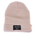 AT10th Acrylic Beanie Beige