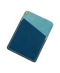 ONE POCKET CARD HOLDER (NAVY) - DAKOTA LEATHER LINE