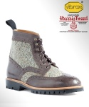 컬러콜라(COLOR COLLA) HARRIS TWEED WING TIP COUNTRY BOOTS