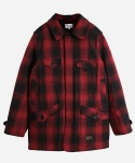 NELL CHECK CRUISER COAT RED
