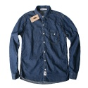 윈디플로어(WINDY FLOOR) basic denim shirt2(deep blue)