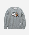 CREWNECK SWEAT SHIRTS CAR CRASH GRAY