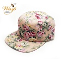 Blank 5Panel Floral Camp Hats Caps Pink Flowers