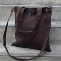 허니브레인- PLANNER 다크 브라운 canvas simple bag
