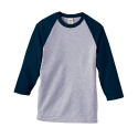 heavy weight base ball 3/4 sleeve (heather/navy)