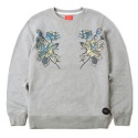 CAMO FLOWERS CREWNECK (GREY)