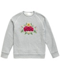 TROPICAL FLOWER SWEATSHIRTS (GRAY)