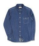 마치위드(MARCHWITH) JAPANESE SELVEDGE DENIM SHIRTS BLUE