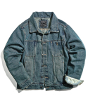 트웰라이브() UTIL DENIM JACKET (washed indigo)