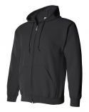 18600 adult full zip hooded (black)