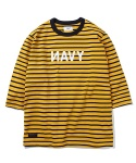 Joel Heavyweight NAVY Shirt Mustard