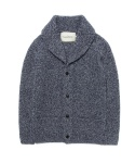 SHAWL COLLAR KNIT CARDIGAN [NAVY]