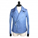 """RIDERS JACKET BLUE"" 라이더 자켓"