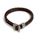 NP LEATHER BRACELET BROWN
