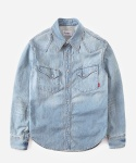 WASHED DENIM WESTERN SHIRTS