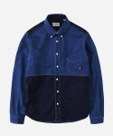 MIXED INDIGO TWO TONE 1PK SHIRTS