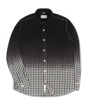 마치위드(MARCHWITH) GRADATION GINGHAM SHIRTS BLACK