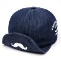 MUSTASCHE WIRE DENIM CAP(INDIGO)