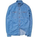 M#0331 button down washing denim shirt
