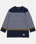 THREE-QUARTER SLEEVE STRIPE T-SHIRT [NA]