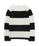 STRIPE LONG SLEEVE T-SHIRT [BLACK]