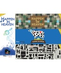 해픈인헤븐(HAPPEN IN HEAVEN) PUZZLE CAMO + MILK COW + MUSIC NOTE + JUNK FOOD