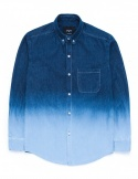 Denim gradation shirts