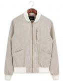Washed camo beige blouson