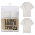 2 PIECE ONE PACK T-SHIRTS (white&white)