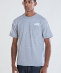 COLLEGIATE OBEY BASIC POCKET TEE HEATHER GREY