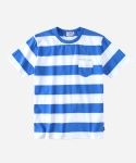 S/S STRIPE POCKET T-SHIRTS BLUE