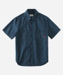 S/S GINGHAM CHECK 2PK SHIRTS GREEN