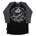리쿼브랜드(LIQUOR BRAND) WILL ALONE RAGLAN 3/4 MEN